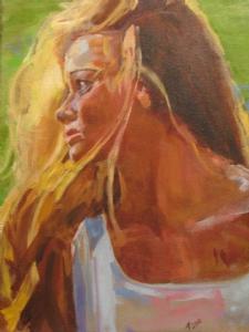 Gabbi by Ann Watcher Oil ~ 18 x 12