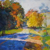 Greenville Road in Blue by Ann Watcher Oil ~ 36 x 48