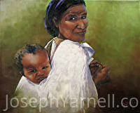Passenger's Grimace by Joseph Yarnell Oil ~ 16 x 20