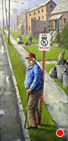 No Parking by Joseph Yarnell Oil ~ 12 x 24