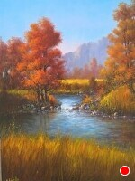 Autumn Glow by Joseph Yarnell Oil ~ 28 x 22