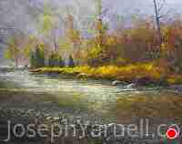 Autumn River by Joseph Yarnell Oil ~ 22 x 26