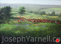 Spring Roundup by Joseph Yarnell Acrylic ~ 22 x 30