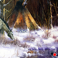 Winter Camp by Joseph Yarnell Oil ~ 24 x 18