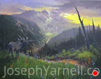 Wilderness Call by Joseph Yarnell Acrylic ~ 24 x 30