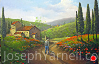 Home From the Field by Joseph Yarnell Acrylic ~ 24 x 36