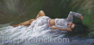 Beautiful Dreamer by Joseph Yarnell Oil ~ 15 x 30