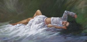 Beautiful Dreamer by Joseph Yarnell Oil ~ 15 x 30