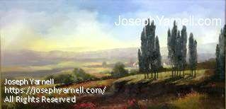 Napa Valley by Joseph Yarnell Oil ~ 15 x 30