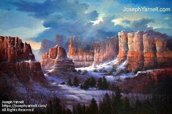Sedona Canyon by Joseph Yarnell Acrylic ~ 30 x 40