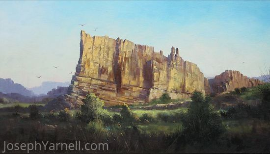 Ship Rock by Joseph Yarnell Oil ~ 18 x 30