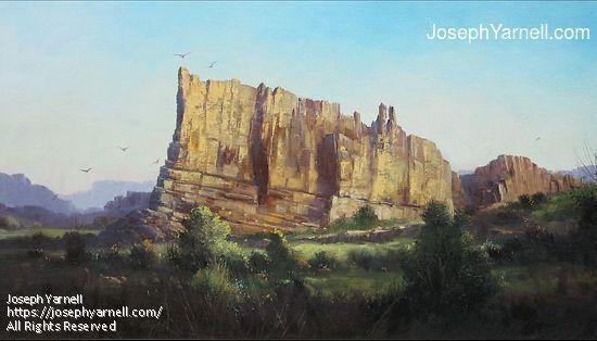 Ship Rock by Joseph Yarnell Oil ~ 18 x 30