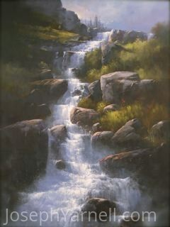 Waterfall by Joseph Yarnell Oil ~ 24 x 18