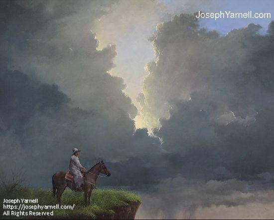 Big Sky Cowboy by Joseph Yarnell Acrylic ~ 22 x 28