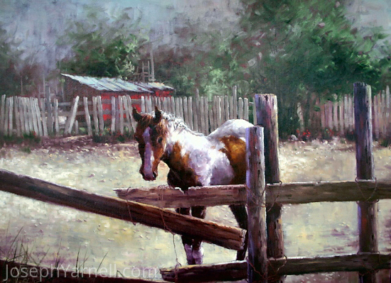 Indian Pony by Joseph Yarnell Oil ~ 18 x 24