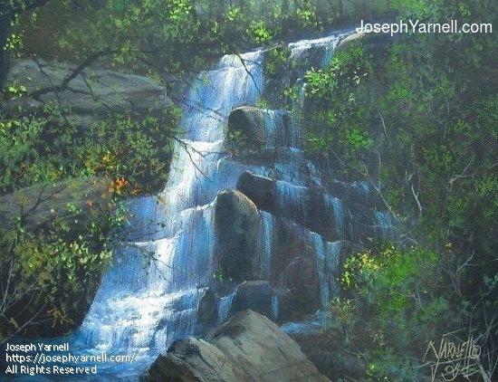 Waterfall by Joseph Yarnell  ~ 11 x 14