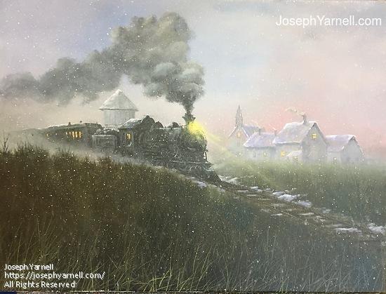 Foggy Departure by Joseph Yarnell Acrylic ~ 18 x 24
