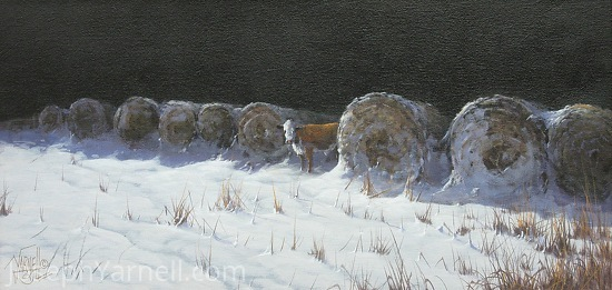 The Hide Out by Joseph Yarnell Acrylic ~ 10 x 20