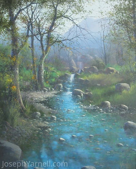 Deer Creek by Joseph Yarnell Acrylic ~ 30 x 24