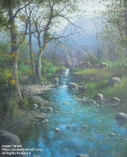 Deer Creek by Joseph Yarnell Acrylic ~ 30 x 24