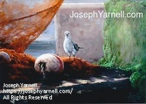 Gull's Paradise by Joseph Yarnell Acrylic ~ 16 x 20