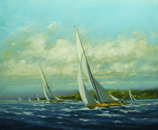Rounding the Point - Oil