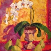 Provencal Pears and Orchids