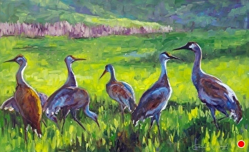 Sandhills at Sunset by Sonja Caywood Oil ~ 18 x 28
