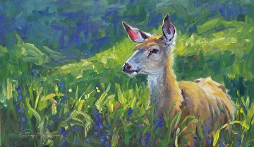 Curiosity by Sonja Caywood Oil ~ 12 x 20.5