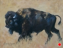 Yellowstone Bull by Sonja Caywood Oil ~ 16 x 20