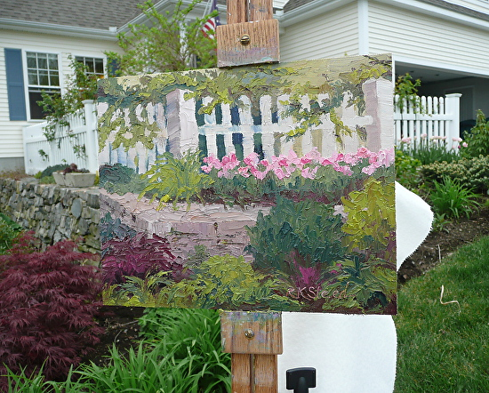 Plein Air in the Artist's Garden - Oil