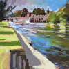 Painting of the Day - Boulter's Lock, UK. July