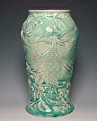 Celadon Vase by  Portola  Art Gallery Pottery ~  x