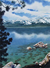 Tahoe Reflections by  Portola  Art Gallery Watercolor ~  x