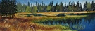 Tuolumne Meadows by  Portola  Art Gallery Watercolor ~ 6 x 18