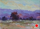 Palo Alto Sunset by Weil by  Portola  Art Gallery Oil ~  x