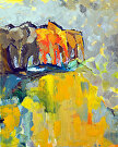 Rainbow-of-Puddles-24x30 by  Portola  Art Gallery  ~  x