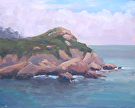 Ichxenta Point, Monastery Beach by  Portola  Art Gallery Oil ~ 8 x 10