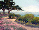 140510-PacificGrovePink by  Portola  Art Gallery Pastel ~ 11 x 14