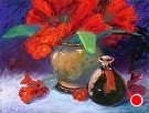 Fire Lilies by  Portola  Art Gallery Pastel ~ 12 x 16