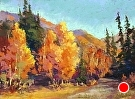 Autumn Splendor by  Portola  Art Gallery Pastel ~ 9 x 12