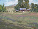 Farmland by  Portola  Art Gallery Pastel ~ 12 x 16