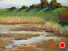 Forebay at Shoreline by  Portola  Art Gallery Pastel ~ 9 x 12