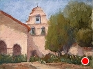 Mission Walls by  Portola  Art Gallery Pastel ~ 9 x 12
