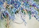 Wisteria by  Portola  Art Gallery Watercolor ~ 20 x 26