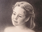 Young Girl by  Portola  Art Gallery Charcoal ~  x