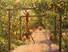 Rose Trellis by  Portola  Art Gallery Oil ~ 9 x 12
