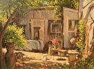 Wood Shop by  Portola  Art Gallery Oil ~ 9 x 12