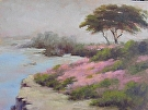 Pacific Grove Ice Plant by  Portola  Art Gallery Oil ~ 9 x 12