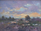 Baylands Sunset by  Portola  Art Gallery Oil ~ 10 x 8